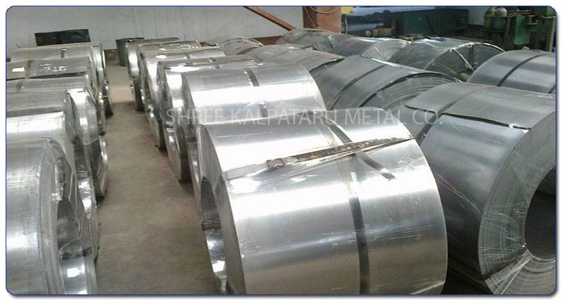 Original Photograph Of Stainless Steel 317L coils At Our Warehouse Mumbai, India
