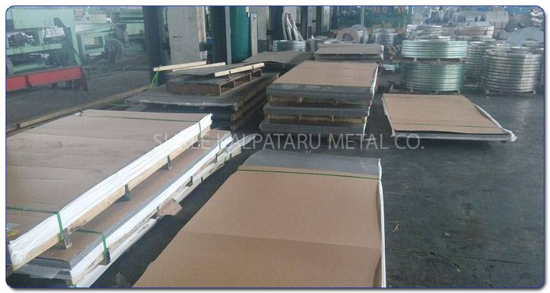 Original Photograph Of Stainless Steel 317L Sheet At Our Warehouse Mumbai, India