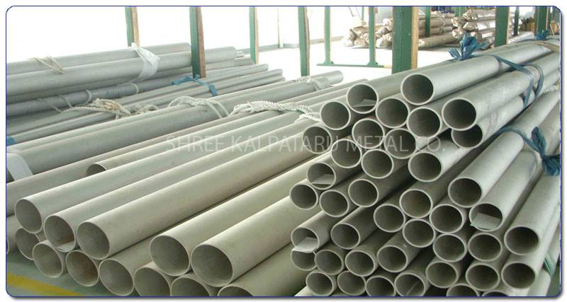 Original Photograph Of Stainless Steel 317L Tubes At Our Warehouse Mumbai, India